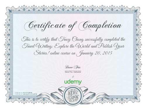 peekholidays-udemy certificate